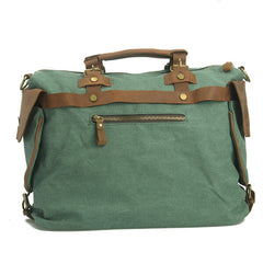 Leisure single shoulder bag Leather Canvas Messenger Bag Washed Canvas Bag 14