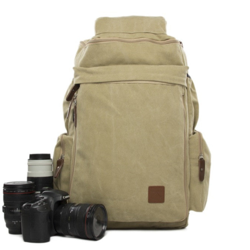 Rice Yellow Maxi Camera Backpack DSLR Canvas Bag Professional Camera Backpack DN26S - icambag