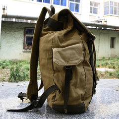 Simple Canvas Travel Laptop Shoulders Bag 00189 - icambag