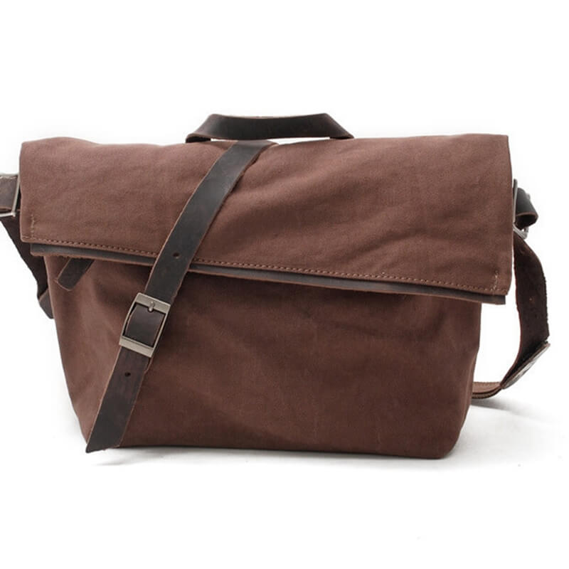 Single Shoulder Canvas Bag,Men;And Women Messenger Bag, 14'' Laptop IPAD Bag 80253 - icambag