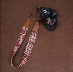 Stripe Stripe Handmade Leather Camera Strap-CS066 - icambag