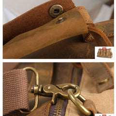 Stylish Single Shoulder Washed Canvas Travel Bag 6858 - icambag