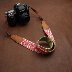 Lovely Strawberry Cowboy Handmade Leather Camera Strap 7120 - icambag