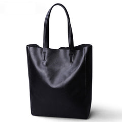 Big Handmade Leather Women's Tote Shopping Bag - icambag