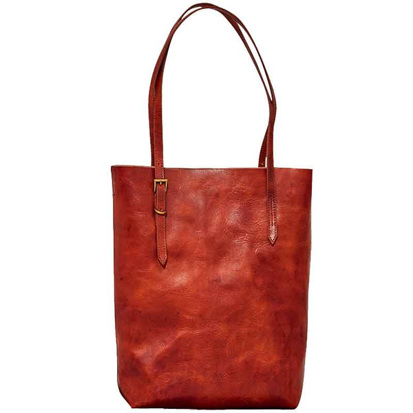 Top Grain Leather Simple Design Tote Bag, Vintage Shoulder Bag BF047
