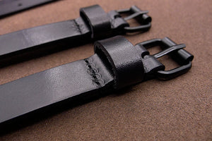 Men's Suspenders,Quick Open Wedding Groomsmen Leather Suspender in Black - icambag