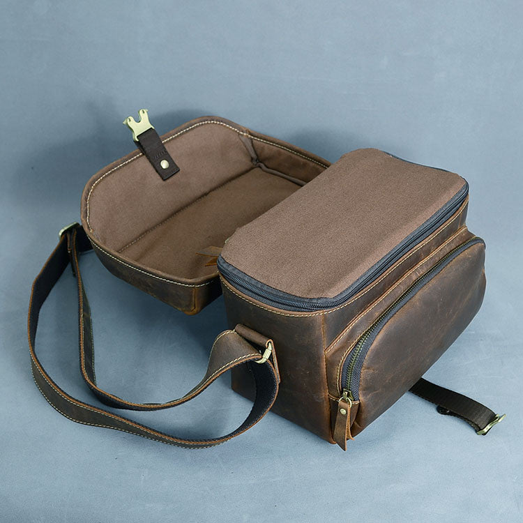 Vintage Canvas Leather DSLR Men and Women Camera Bag 1128 - icambag