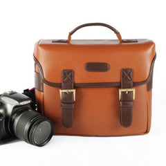 Brown Vintage DSLR Camera Bag - icambag
