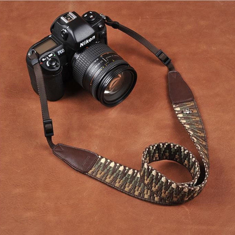 Weaving Style Coffee Strap  Handmade Leather Camera Strap 8292 - icambag