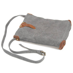 White/Khaki/Gray Canvas Leather IPAD Bag For Men's And Women's 6833 - icambag