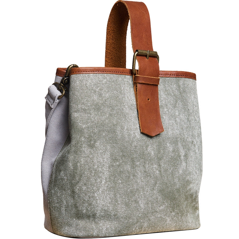 Canvas Handmade Women's Handbags Bridesmaid's Gifts Bucket Bag - icambag