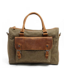 Zippered Canvas Leather Messenger Tote Bag 2025 - icambag