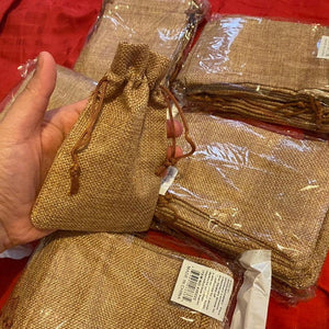 "Rustic Wedding Jute Bag Natural Wedding Set of 12 Burlap Bag 3""x 4"" 4""x6"" 5""x7"" 6""x9"" Wedding Favor Bags, Party Favor Bags, Burlap Gift Bags - icambag"