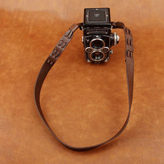 Italy Vegetable Tanning Cowhide Handmade DSLR Leather Camera Strap For Rolleiflex - CS224 - icambag