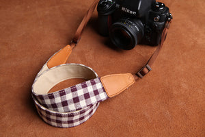 Grid DSLR Handmade Leather Camera Strap CS077 - icambag