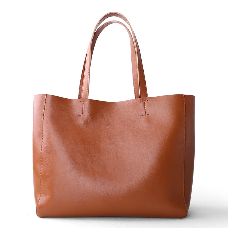 Leather Tote Bag | Zipper Tote | Shoulder Bag | Large Leather Bag - icambag