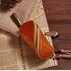 Vintage Full Grain Leather Key Case, Key Bag Holder