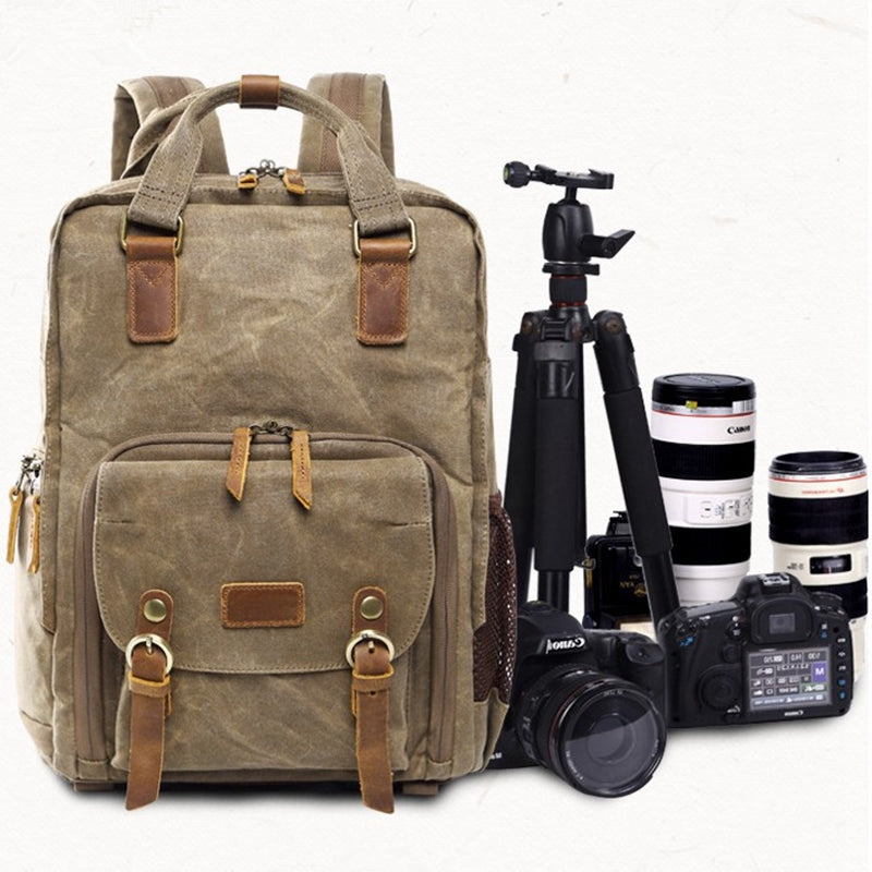 Professional Canon Nikon Backpack Outdoor Trip Camera Backpack Waterproof Anti-theft Backpack Large Capacity Bag - icambag