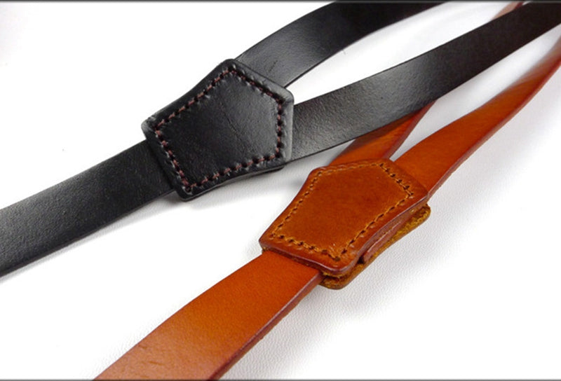 Mens Leather Suspenders,Fashion Suspenders,Birthday Gift - icambag