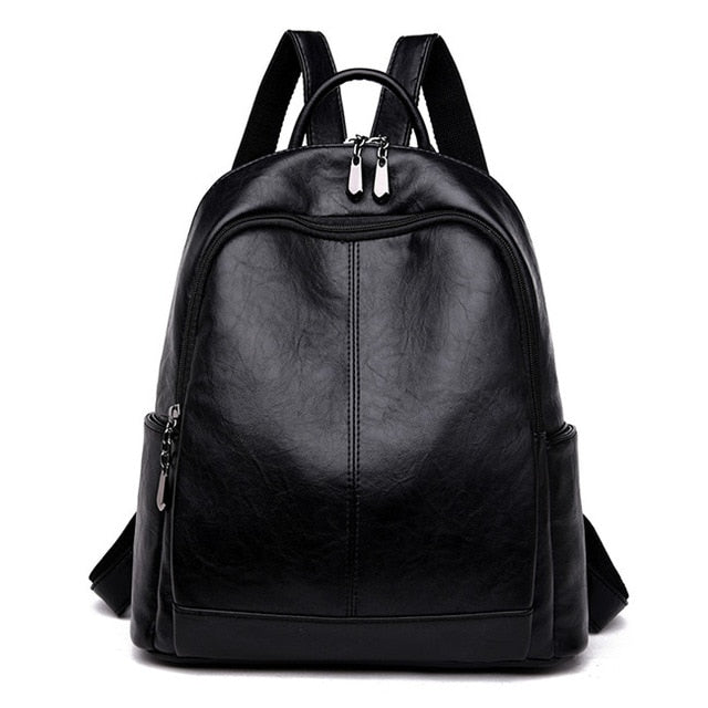 Full Grain Leather Vintage Backpack For Women,Soft School Bag,Travel Bag For Women