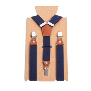 Personalized Groomsmen Suspenders Wedding Suspenders Men's Navy Suspenders Premium Men's Suspenders Perfect Adult Suspenders - icambag