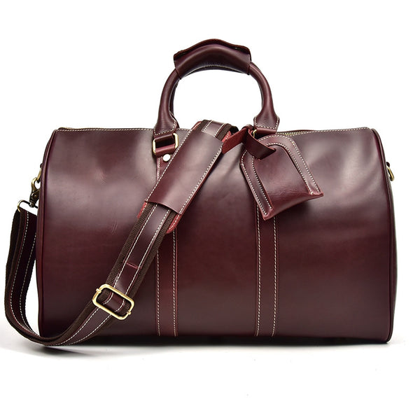Best Genuine Handmade Leather Duffle Bag for Travel, Holdall Luggage Bag - icambag