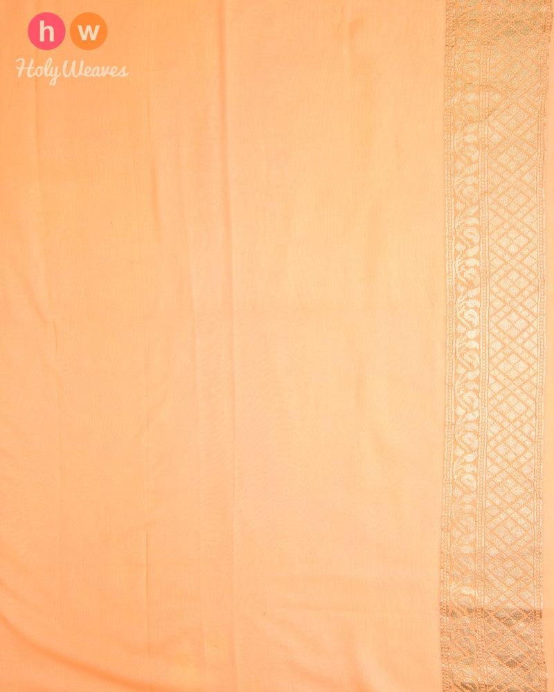 Red Banarasi Jaal Cutwork Brocade Handwoven Khaddi (खड्डी) Georgette Saree - HolyWeaves
