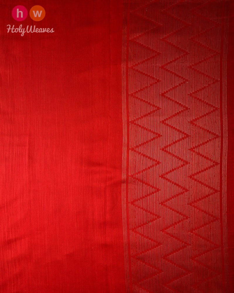 Blue Banarasi Tilfi Cutwork Brocade Handwoven Kora Silk Saree - HolyWeaves