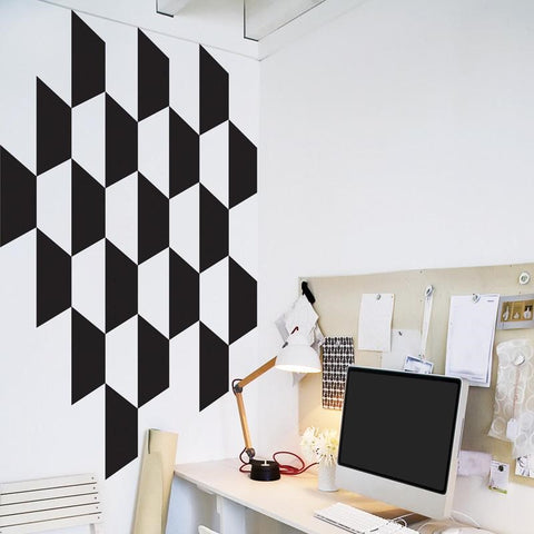 Wallpaper With Geometric Shapes Fo Wall Decoration, Wall Art