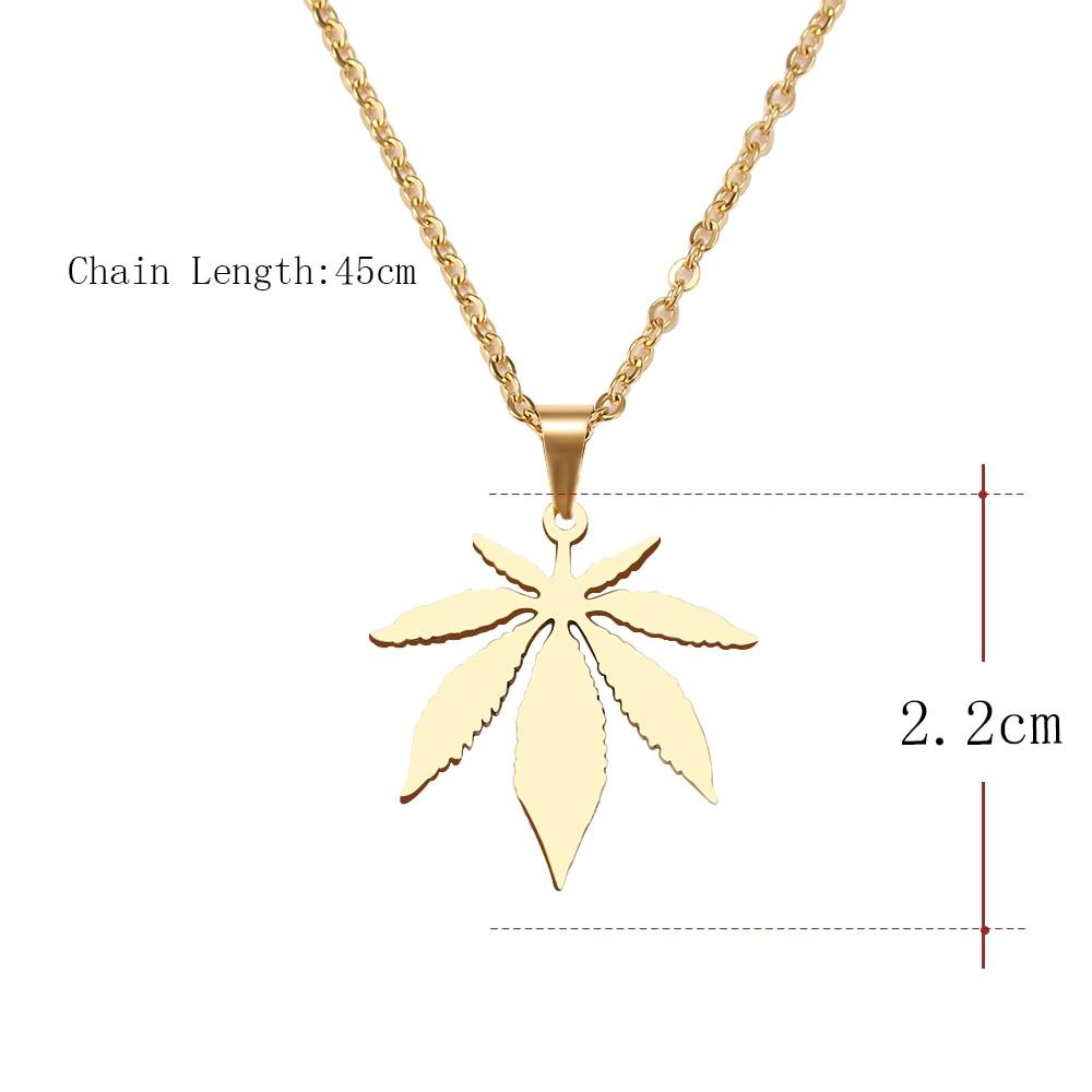 Men & Women's Maple Leaf Choker Pendant Necklace