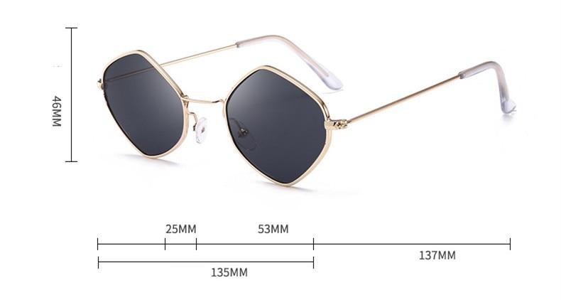 Men & Women's Clear Polygon Sunglasses