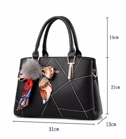 Women's Ribbon Bow Leather Bag