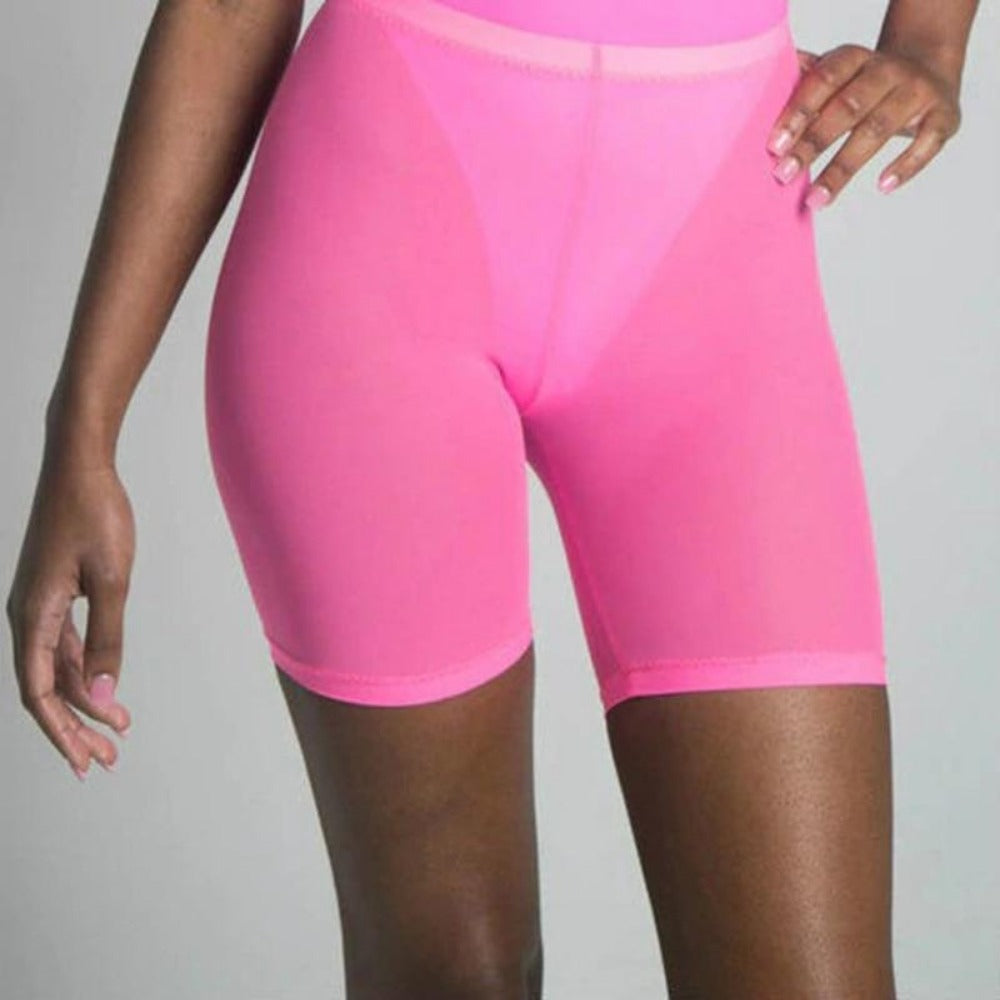 Transparent High Waist Biker Shorts-Resort Wear-Product Details: Women Mesh Transparent Shorts High Waist Club Wear Sweatpants Biker Bodycon Street Shorts Material: Spandex Decoration: Ribbons Waist Type: High Size Chart: size Waist Hip Length inch cm inch cm inch cm One size S 22-27 58-70 25-34 64-88 12 32 M 25-29 64-76 27-37 70-94 13 34 L 27-33 70-86 29-39 76-100 14 36 XL 29-34 76-88 32-41 82-106 15 38 XXL XXXL - - - - -Keyomi-Sook