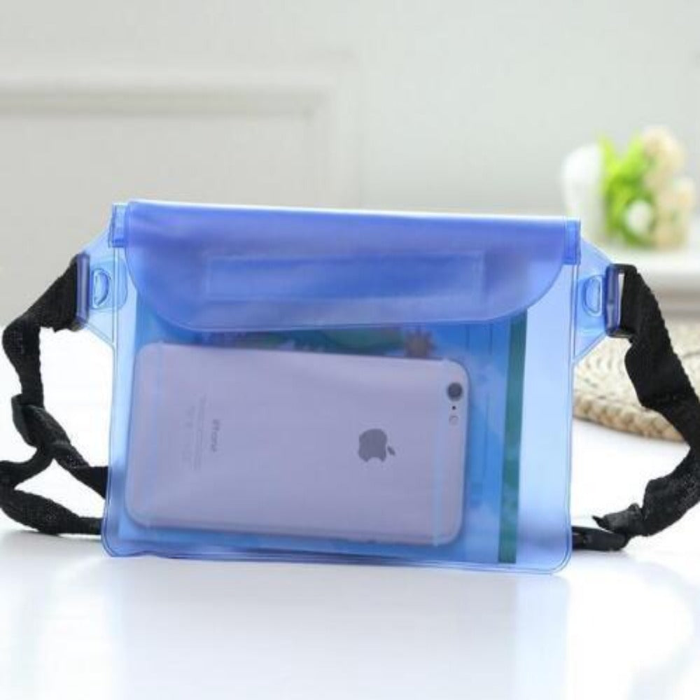 Waterproof Fanny Pack Phone Pocket-Fanny My Bum-Blue-Product Details: Waterproof Diving Waist Fanny Pack Phone Pocket-Keyomi-Sook