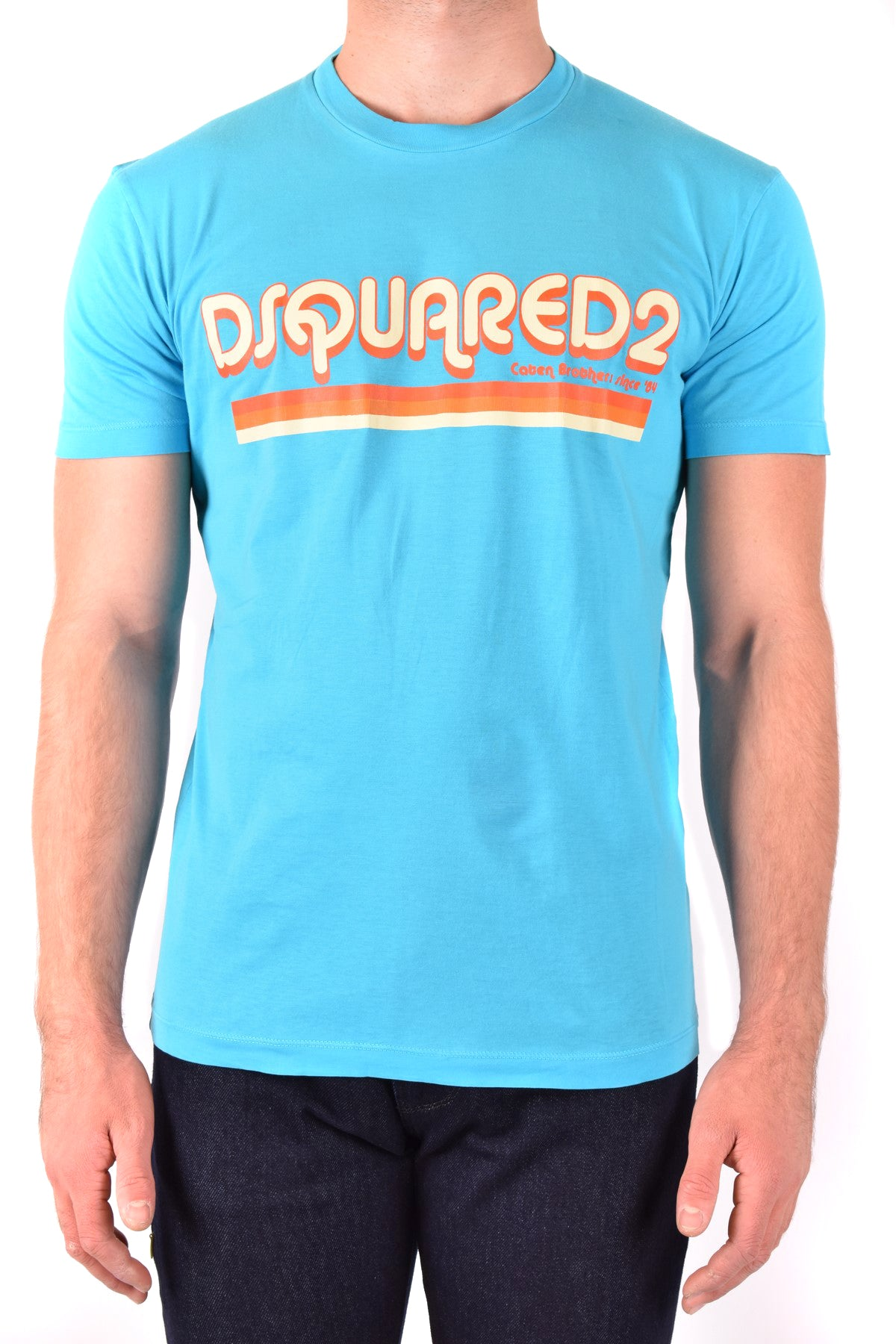 T-Shirt Dsquared-Men's Fashion - Men's Clothing - Tops & Tees - T-Shirts-S-Product Details Terms: New With LabelClothing Type: T-ShirtMain Color: BlueSeason: Spring / SummerMade In: ItalyGender: ManSize: IntComposition: Cotton 100%Year: 2020Manufacturer Part Number: S71Gd0887-Keyomi-Sook