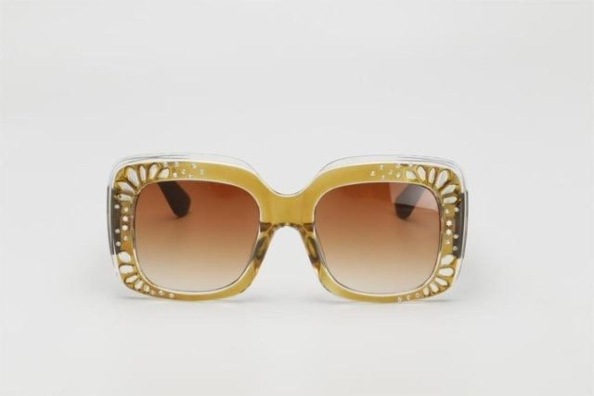 Side Striped Oversized Rhinestone Sunglasses-Ladies Sunglasses-c2 yellow orange-Product Details: Oversized Rhinestone Sunglasses Women luxury Brand Shades Big Frame Ladies Trendy Sunglasses Style: Square Lenses Material: Polycarbonate Dimensions: Lens Height: 47 mm Lens Width: 52 mm-Keyomi-Sook