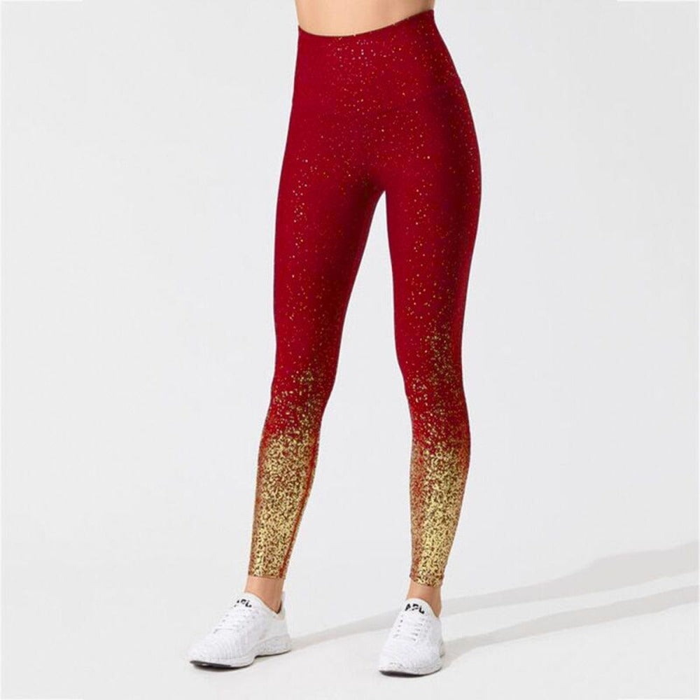 Women'S Knitted Ankle-Length High Waist Leggings-Women - Apparel - Activewear - Leggings-S-Rose-Product Details: Women's Knitted Ankle-Length High Waist Fitness Leggings Item Type: Leggings Material: Polyester, Spandex Pattern Type: Dot Waist Type: High Fabric Type: Knitted Length: Ankle-Length Thickness: Standard Style: Casual Size Chart:-Keyomi-Sook