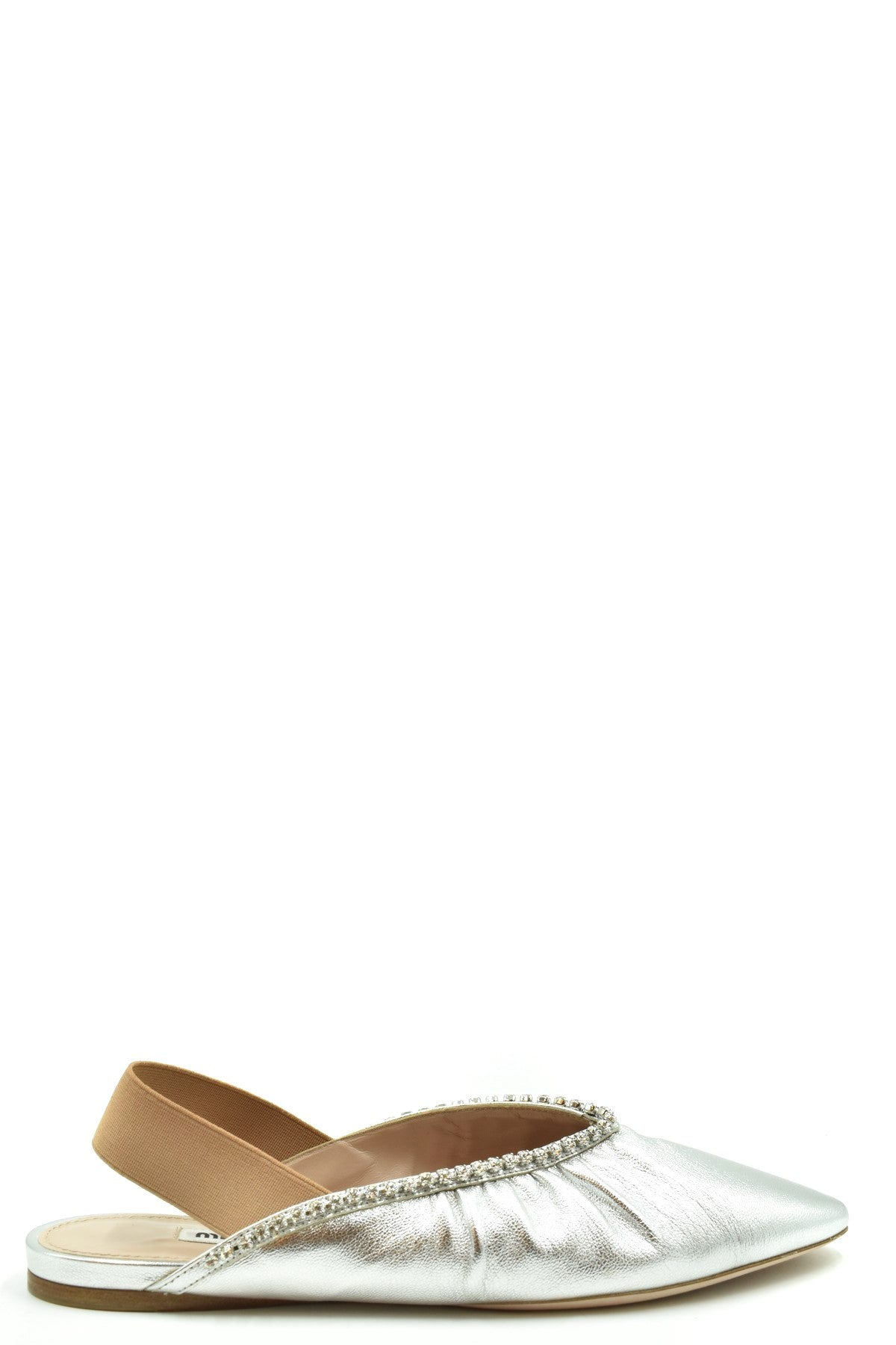 Miu Miu-Women's Fashion - Women's Shoes - Slippers-35.5-Product Details Terms: New With LabelMain Color: SilverType Of Accessory: ShoesSeason: Spring / SummerMade In: ItalyGender: WomanSize: EuComposition: Leather 100%Year: 2020Manufacturer Part Number: 5F919C-Keyomi-Sook