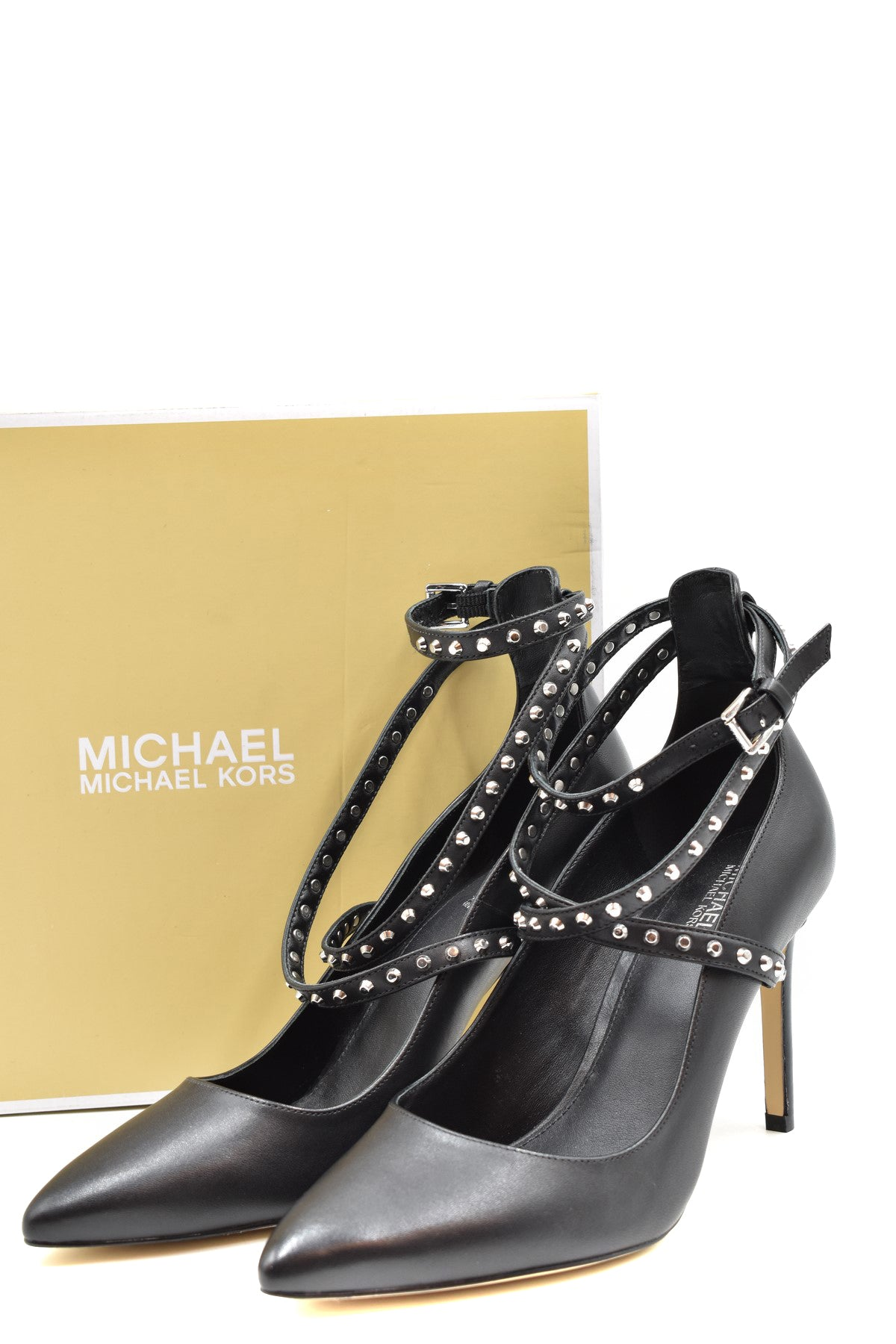 Shoes Michael Kors--Product Details Terms: New With LabelMain Color: BlackType Of Accessory: ShoesSeason: Fall / WinterMade In: ChinaGender: WomanHeel'S Height: 9Size: UsComposition: Leather 100%Year: 2019Manufacturer Part Number: 40F8Jnhs1L-Keyomi-Sook