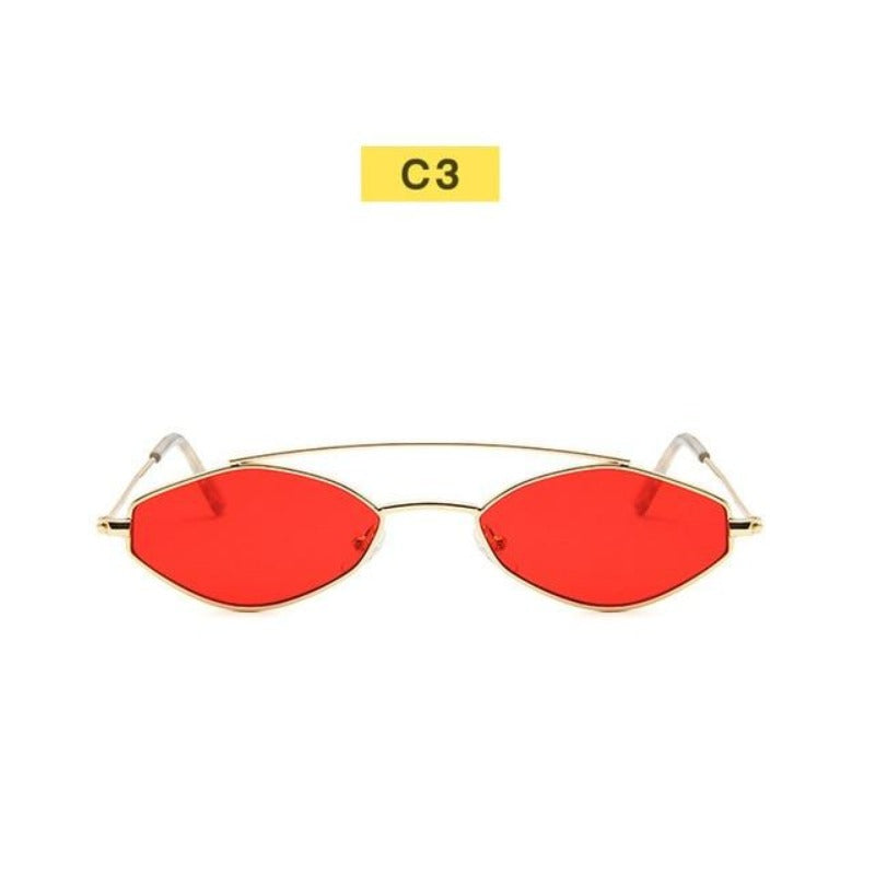 90's Oval Nose Resting Sunglasses-Ladies Sunglasses-C3-Red Gold-Product Detail: 90s Sunglasses Women Retro Oval Sunglasses Lady Brand Designer Vintage Sunglasses Girls Eyeglasses UV400 Frame Material: Alloy Lenses Material: Acrylic Dimensions: Lens Height: 30 mm Lens Width: 52 mm-Keyomi-Sook