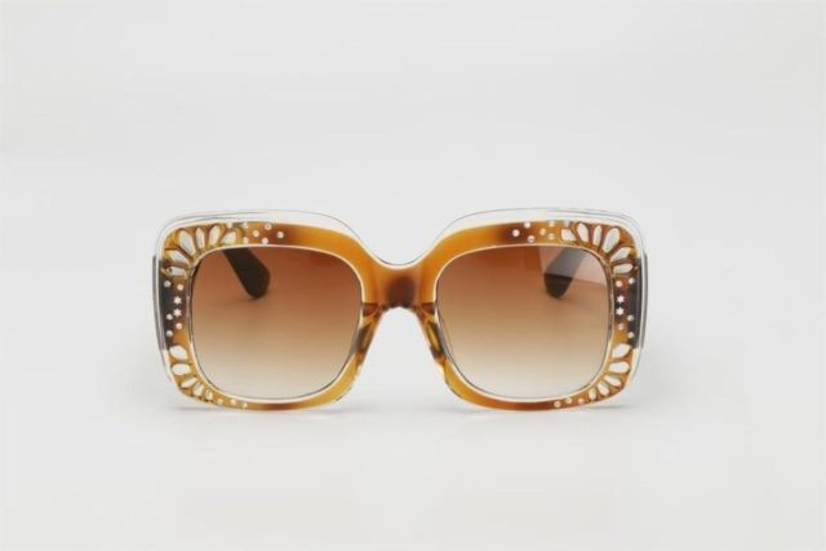 Side Striped Oversized Rhinestone Sunglasses-Ladies Sunglasses-c4 orange brown-Product Details: Oversized Rhinestone Sunglasses Women luxury Brand Shades Big Frame Ladies Trendy Sunglasses Style: Square Lenses Material: Polycarbonate Dimensions: Lens Height: 47 mm Lens Width: 52 mm-Keyomi-Sook