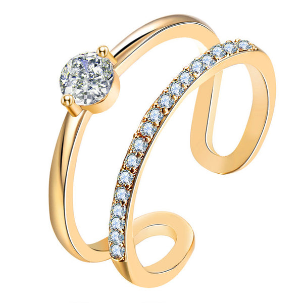 Open Rim Cubic Zirconia Ring-Ladies Rings-FCS54451-Keyomi-Sook