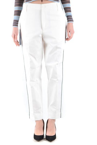 Trousers Golden Goose-root - Women - Apparel - Pants - Trousers-XS-Product Details Terms: New With LabelClothing Type: TrousersMain Color: WhiteSeason: Spring / SummerMade In: ItalyGender: WomanSize: IntComposition: Cotton 100%Year: 2018Manufacturer Part Number: G32Wp002/A1-Keyomi-Sook