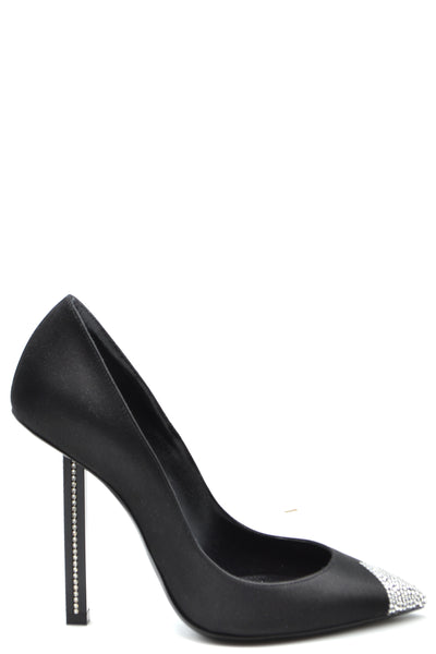 Shoes Saint Laurent-Décolleté - WOMAN-35-Product Details Type Of Accessory: ShoesTerms: New With LabelHeel'S Height: 9Main Color: BlackGender: WomanMade In: ItalyManufacturer Part Number: 523912 F1400 1000Size: EuYear: 2018Season: Spring / SummerComposition: Tissue 100%-Keyomi-Sook