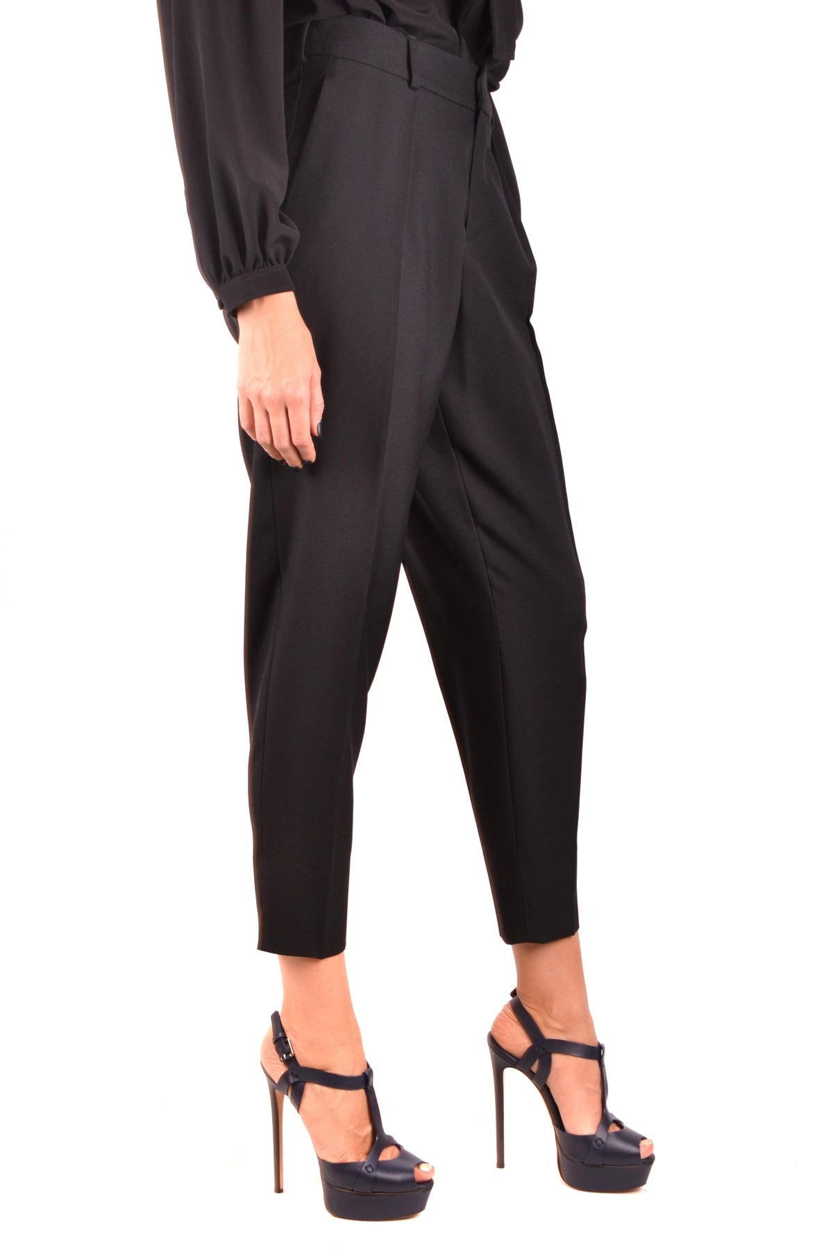 Trousers Saint Laurent-Trousers - WOMAN-Product Details Season: Fall / WinterTerms: New With LabelMain Color: BlackGender: WomanMade In: ItalyManufacturer Part Number: 504413 Y239WSize: FrYear: 2018Clothing Type: TrousersComposition: Wool 100%-Keyomi-Sook