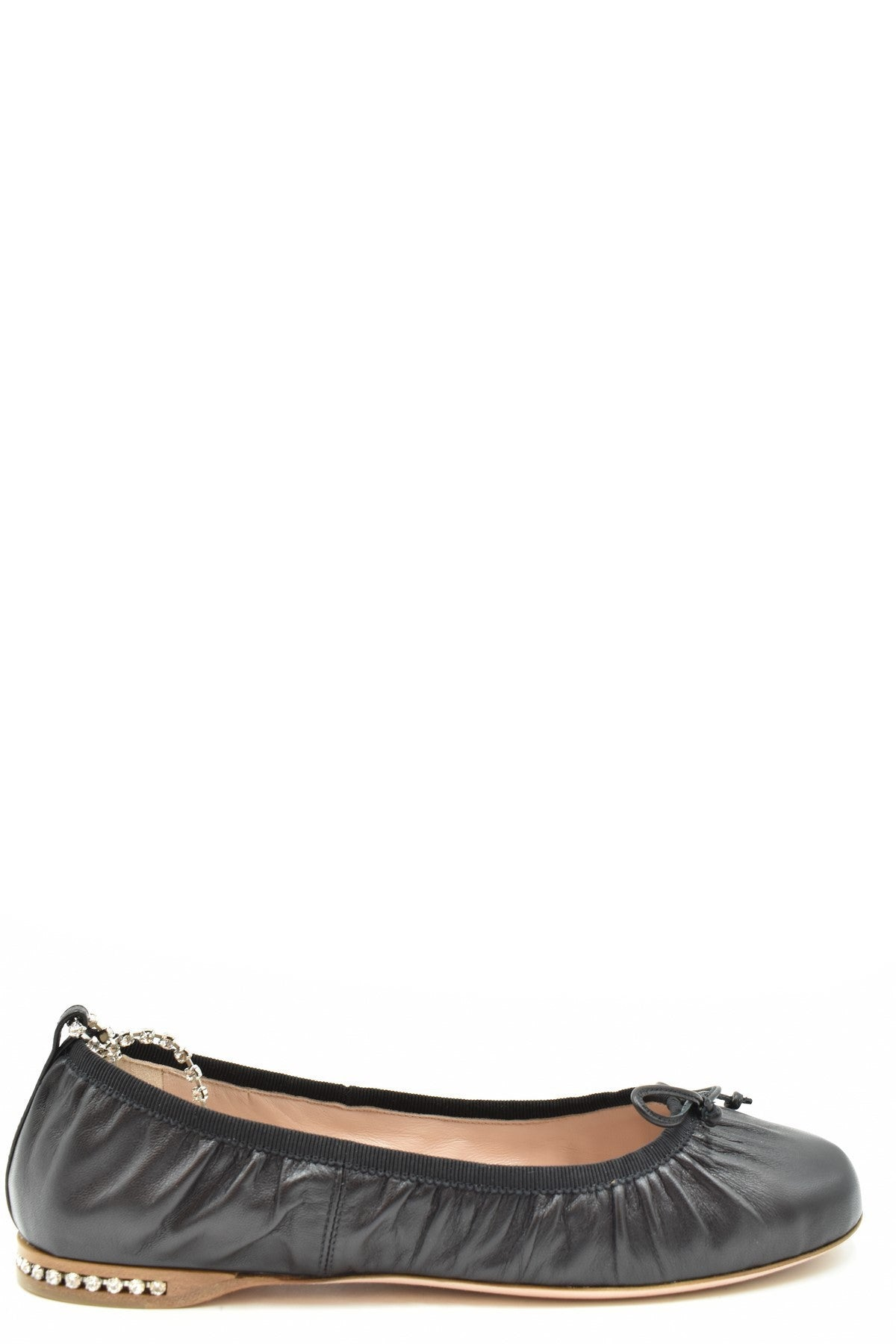 Shoes Miu Miu-Women's Fashion - Women's Shoes - Women's Flats-35.5-Product Details Manufacturer Part Number: 5F919C 0386Year: 2020Composition: Leather 100%Size: EuGender: WomanMade In: ItalySeason: Spring / SummerType Of Accessory: ShoesMain Color: BlackTerms: New With Label-Keyomi-Sook