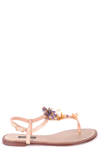 Shoes Dolce & Gabbana-Flip-flops - WOMAN-36-Product Details Type Of Accessory: ShoesSeason: Spring / SummerTerms: New With LabelMain Color: MulticolorGender: WomanMade In: ItalyManufacturer Part Number: Cq0073 Ad330 80703 SabbiaSize: EuYear: 2018Composition: Lambskin 100%-Keyomi-Sook
