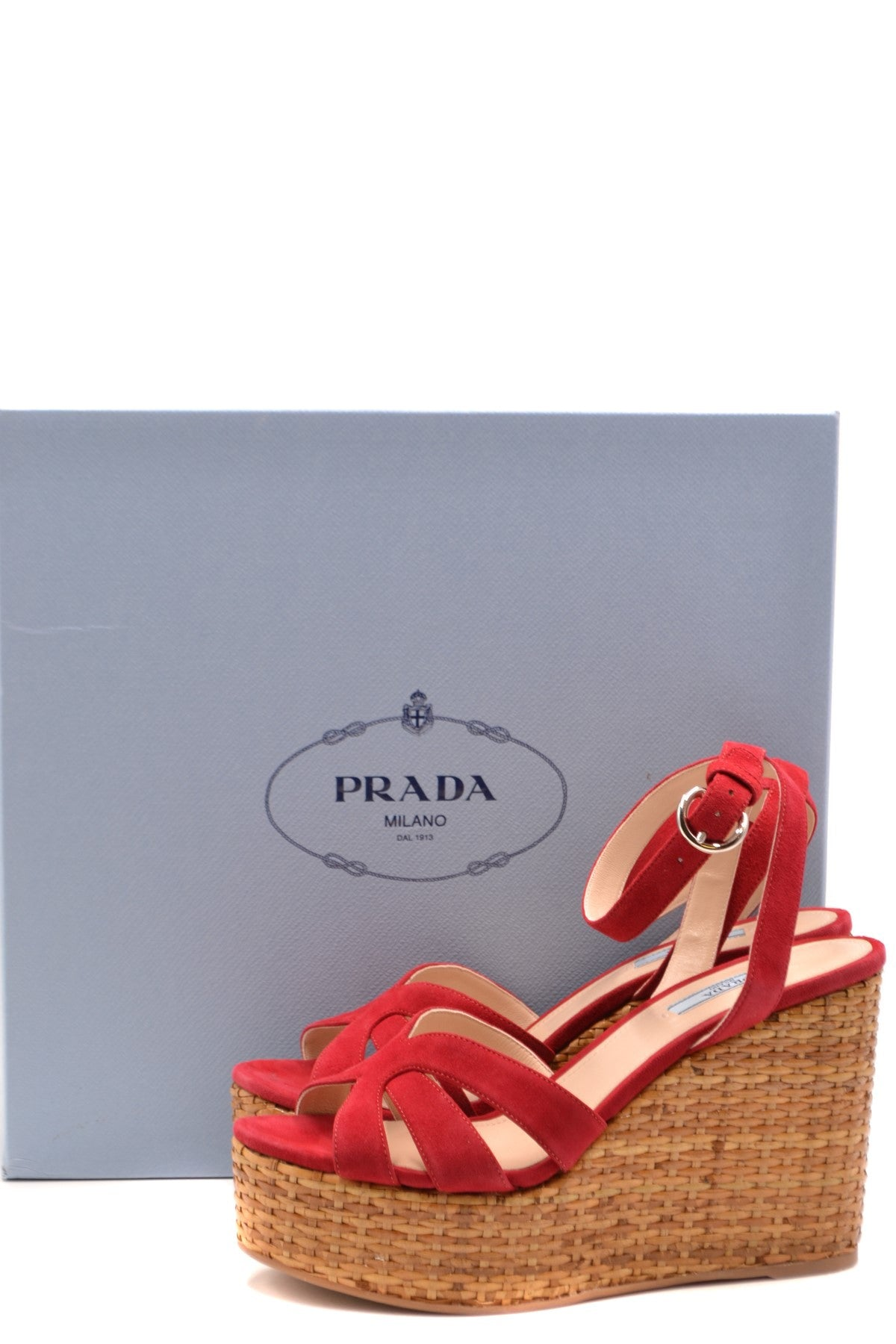 Shoes Prada-Women's Fashion - Women's Shoes - Women's Sandals-Product Details Terms: New With LabelMain Color: RedType Of Accessory: ShoesSeason: Spring / SummerMade In: ItalyGender: WomanSize: EuComposition: Chamois 100%Year: 2020Manufacturer Part Number: 1Xz705008 F0E06-Keyomi-Sook