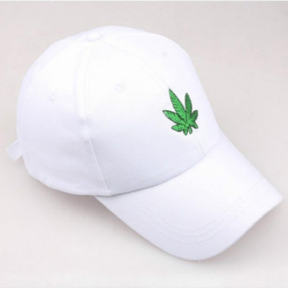 Men & Women's Embroidery Maple Leaf Hat-Men's Hats-White-adult size-Product Details: Men & Women's Embroidery Maple Leaf Adjustable Strapback Hat Gender: Unisex Strap Type: Adjustable Material: Cotton, Polyester Style: Casual Color: White, Black-Keyomi-Sook