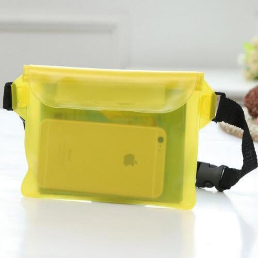 Waterproof Fanny Pack Phone Pocket-Fanny My Bum-Yellow-Product Details: Waterproof Diving Waist Fanny Pack Phone Pocket-Keyomi-Sook